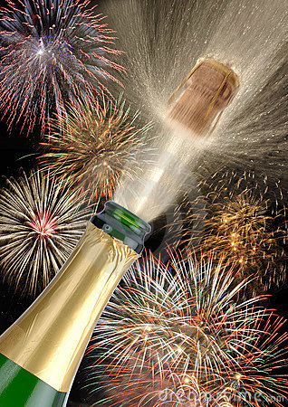 Free Champagne New Year Royalty Free Stock Photos - 8751278