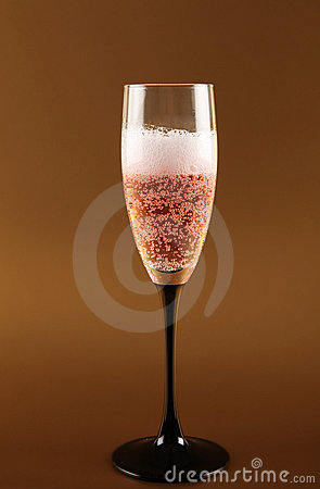 Champagne pink fizz celebration