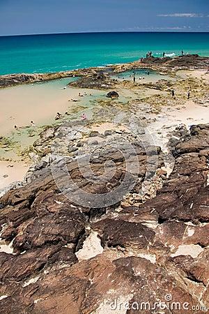 Champagne Pool on Fraser Island