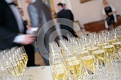 Champagne for presentation.