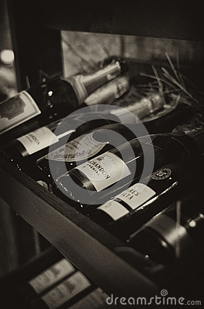 Champagne rack Editorial Photography