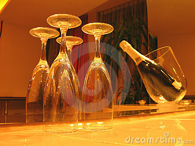 Champagne In Romantic Light