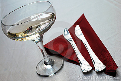 Champagne and silverware
