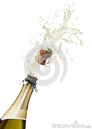 Champagne splashing
