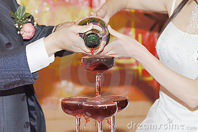 Champagne on the wedding