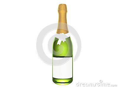 Champagne or wine bottle