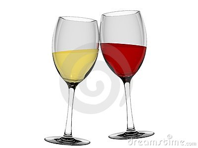 Champagne and wine in glass