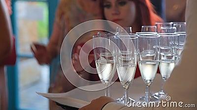 Champagner-Behandlungen stock footage