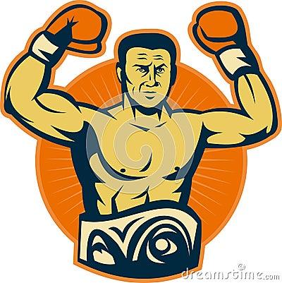 Champion boxer championship belt