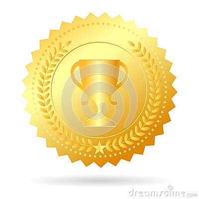 Free Champion Gold Medal Stock Image - 33448671