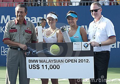 Champions of Doubles BMW Malaysian Open 2012 Editorial Photography