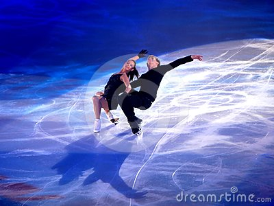 Champions on ice-Rimini 2012- Ilinykh & Katsalapov Editorial Stock Photo