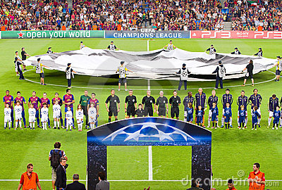 Champions League match Editorial Photography