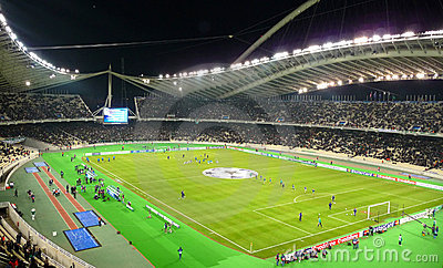Champions League , Olympic stadium, Athens Editorial Photo