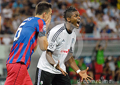 CHAMPIONS LEAGUE: STEAUA BUCHAREST-LEGIA WARSAW Editorial Stock Image