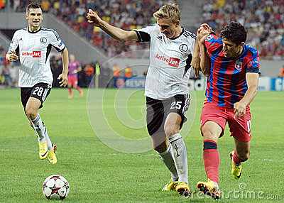 CHAMPIONS LEAGUE: STEAUA BUCHAREST-LEGIA WARSAW Editorial Stock Photo