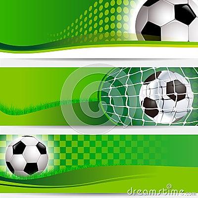 Champions soccer football tournament banner set