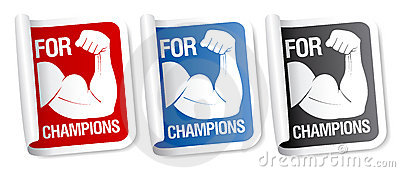 For champions stickers.