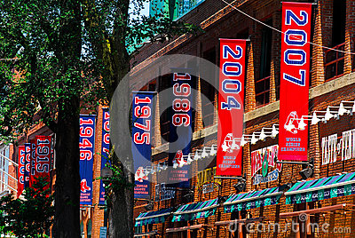 Championship Banners Fenway Park Editorial Stock Photo