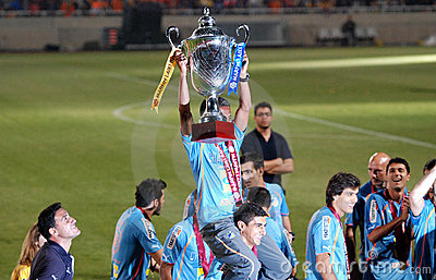 Championship celebrations of APOEL club, CYPRUS Editorial Stock Photo