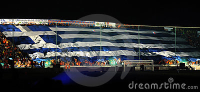 Championship celebrations of APOEL club, CYPRUS Editorial Stock Image