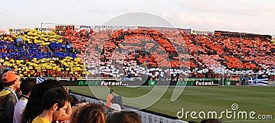 Championship celebrations of APOEL club, CYPRUS Editorial Stock Image