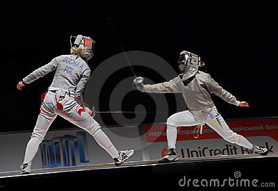 Championship of Europe on fencing Editorial Photo
