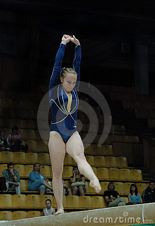 Championship on sporting gymnastics Editorial Stock Image