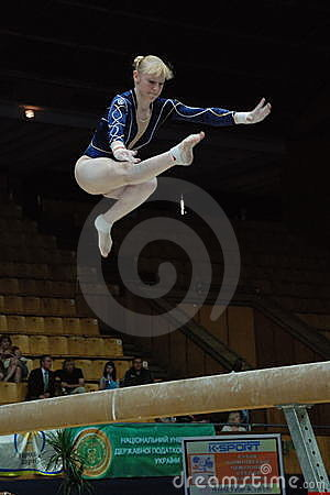 Championship on sporting gymnastics Editorial Stock Photo