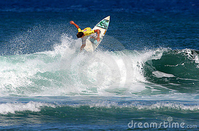 Championship Surfing Competition in Hawaii Editorial Stock Photo