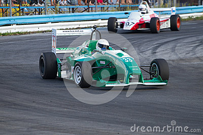 Championship of Ukraine on races car on Formula One . Editorial Photography