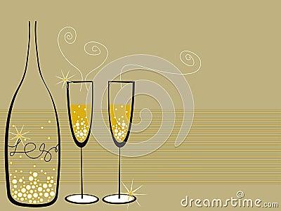 Champán burbujea celebración