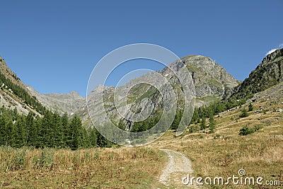 Champoléon valley in Alps