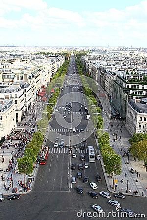 Champs Elysee, Paris Editorial Stock Image