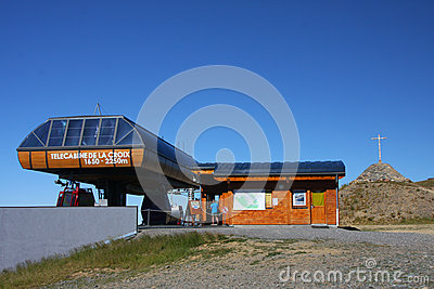 Chamrousse summit Cable Car Station Editorial Stock Photo
