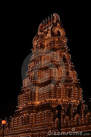 Chamundeshwari Temple at night