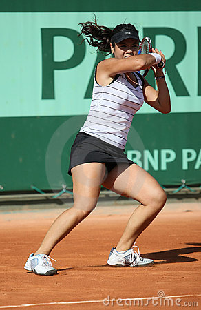 Chan Yung-jan (TPE) at Roland Garros 2011 Editorial Photography