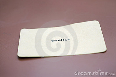 Chance Card on Table