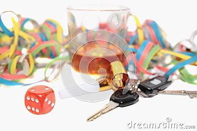 Chancing whiskey and car keys