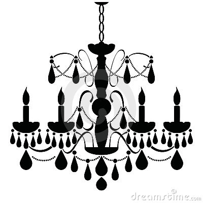Free Chandelier (black) Stock Image - 6555181