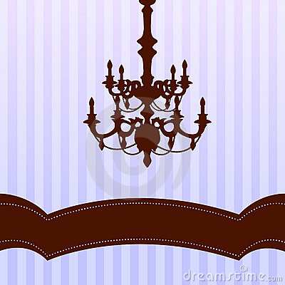 Chandelier on blue background