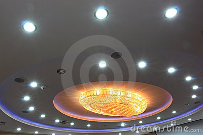 Chandelier at ceiling