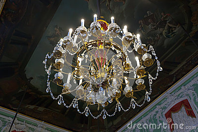 Chandelier in interior of Stroganov Palace Editorial Stock Image