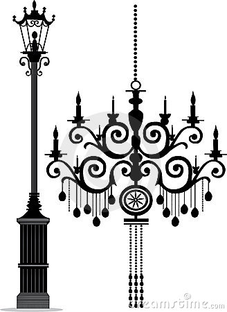 Chandelier & Lamp Post
