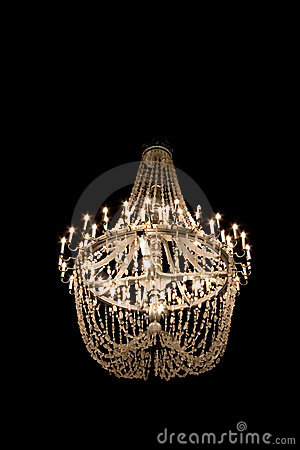 Chandelier in salt mine