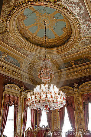 Chandelier with seeling decorations