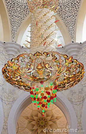 Chandelier in Sheikh Zayed Grand Mosque