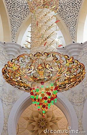 Chandelier in Sheikh Zayed Grand Mosque
