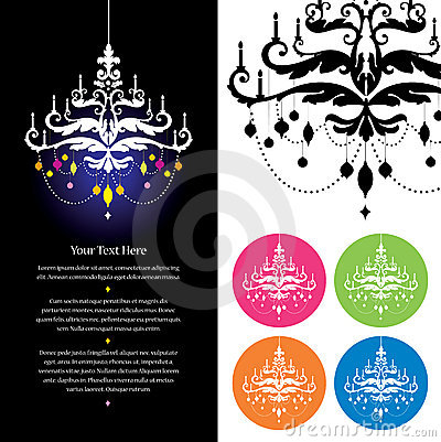 Chandelier stationery template