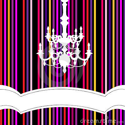 Chandelier with striped background